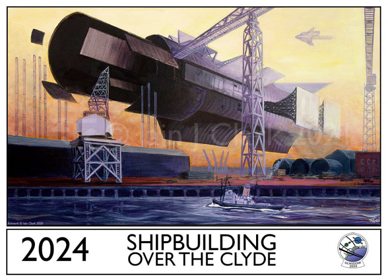 Iain Clark. Glasgow in 2024 – Shipbuilding Over The Clyde